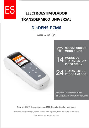 Manual de uso DiaDENS-PCM6